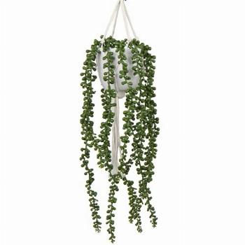 Artificial String of Pearls Plants Fake Hanging Plants in