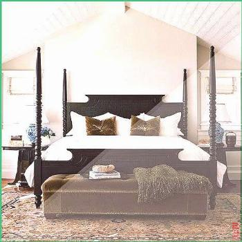 black four poster bed cream walls white beadboard beadboard beadboard ceiling bed Black ceiling CRE