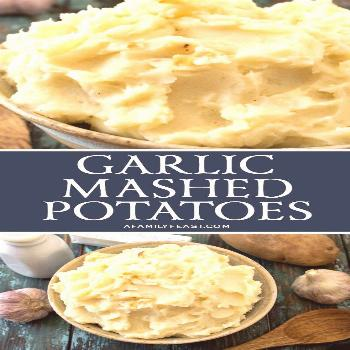 Creamy russet potatoes combined with roasted garlic, butter and cream...these are the best Garlic M