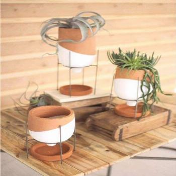 Dip Dyed Terracotta Planters - Set of 3 ~ Eclectic Goods : Eclectic Goods