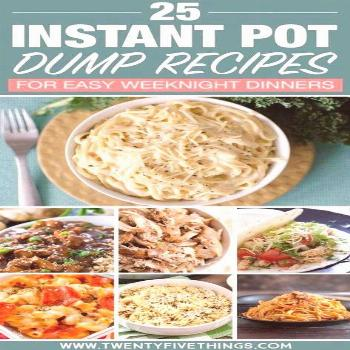 Dump and push start Instant Pot dinner recipes are as easy as it gets so you can take it easy after
