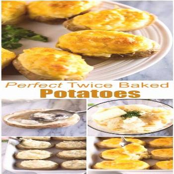 Easy Twice Baked Potatoes are baked potatoes stuffed with a creamy, fluffy mashed potato filling an