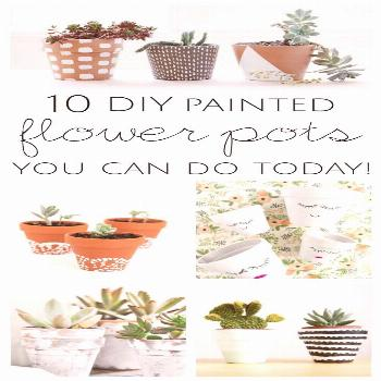 Get inspired to by these 10 DIY painted flower pot ideas you can do today and have your patio looki
