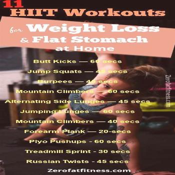 HIIT Workouts: 11 Best HIIT for Weight Loss and Flat Stomach at Home...