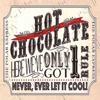 Hot Chocolate Poster Red - INSTANT DOWNLOAD - Printable Birthday Christmas Part... Polar Express Ho