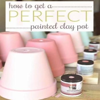Hot to paint terra cotta pots tips and tutorial!