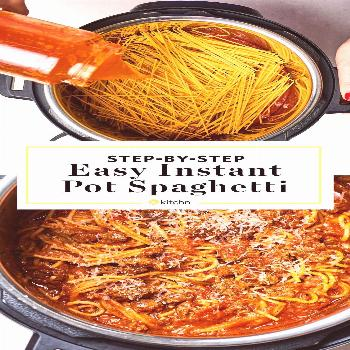 Instant Pot Spaghetti and meat sauce. Need recipes and ideas for fast and easy dinners you can make