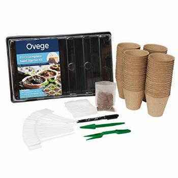 Ovege 6-in-1 Garden Seeds Starter Kit with 80 Peat Pots for