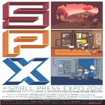 Poster by Chris Ware SPX (Small Press Expo) 2012 is a festival celebrating graphic novels, comic ar
