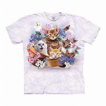 The Mountain Cats in Plant Pots 100% Cotton Unisex T-Shirt -