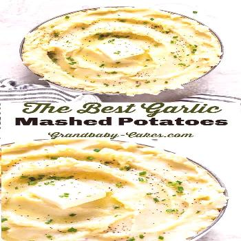 These Garlic Mashed Potatoes are smooth and silky, creamy, deliciously buttery and beyond garlicky!