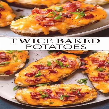 Twice Baked Potatoes - these are one of the ultimate side dish recipes! They're seriously comfortin