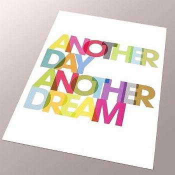 Typography poster print retro rainbow graphic design inspirational quote font kitchen art - A... Ty