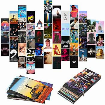 YINGENIVA 50PCS Album Cover Aesthetic Pictures Wall Collage