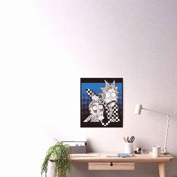 Your Eyes - Pretty Cool Retro Abstract Doodle Stripes Chess of Rick and Morty™ ' Poster by GDCdes