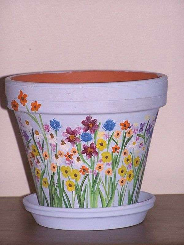 40 Flower Pot Painting Ideas And Designs To Try