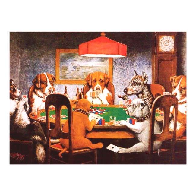 A Friend in Need C M Coolidge Dogs Playing Poker Poster
