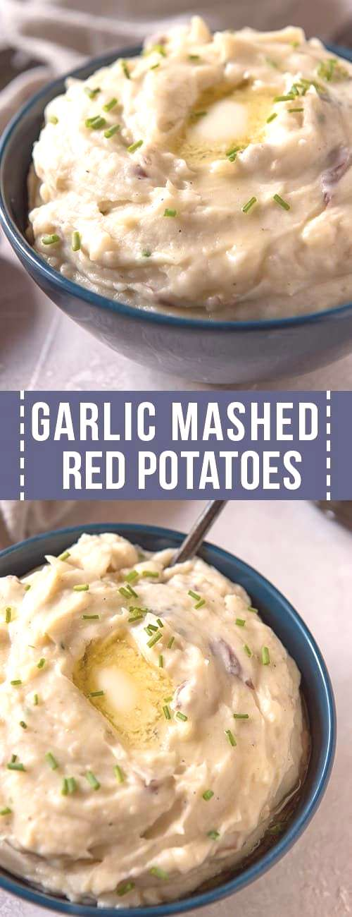Add a classic side dish to your dinner menu with these Garlic Mashed Red Potatoes with Chives! The