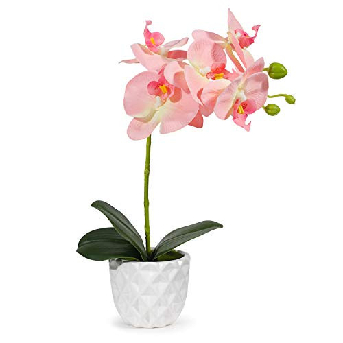 Artificial Orchid Flowers Silk Orchids Flowers Pink Faux