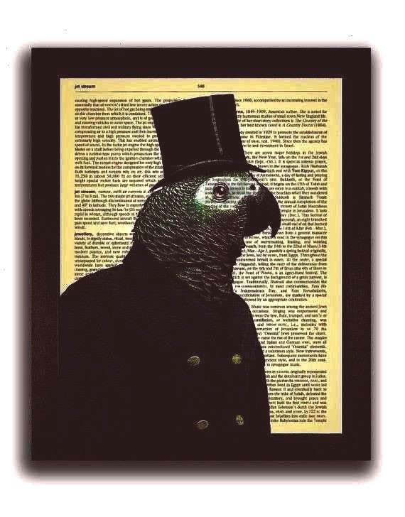 Artwork, Funny Gift for Boyfriend, Hipster Wall Art, Kids Room Decor, Geeky Poster, Parrot Drawing
