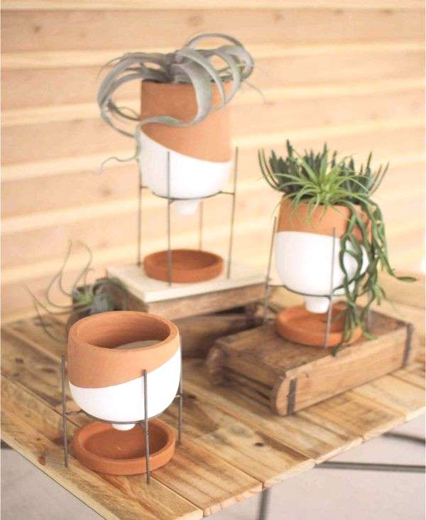 Dip Dyed Terracotta Planters - Set of 3 ~ Eclectic Goods Eclectic Goods