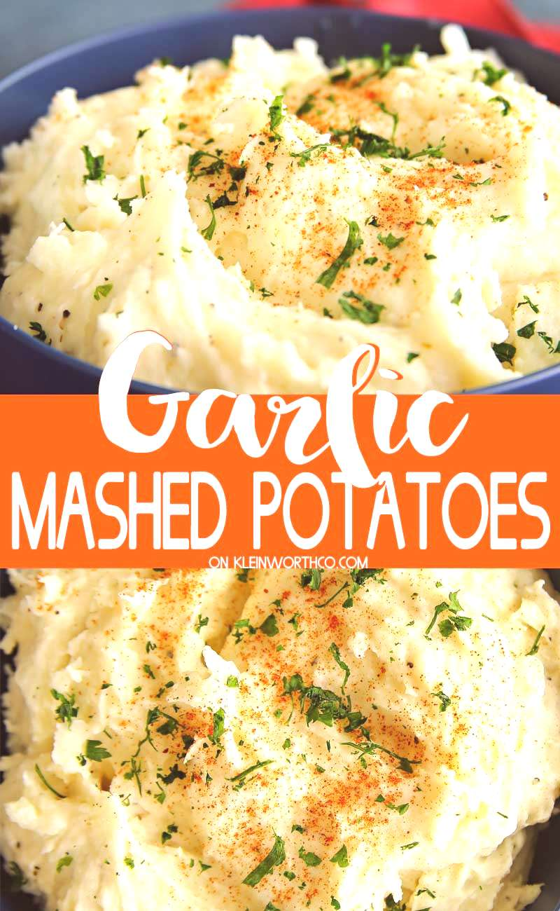 Garlic Mashed Potatoes, an easy side dish dinner recipe amp perfect for all of those holiday feasts t