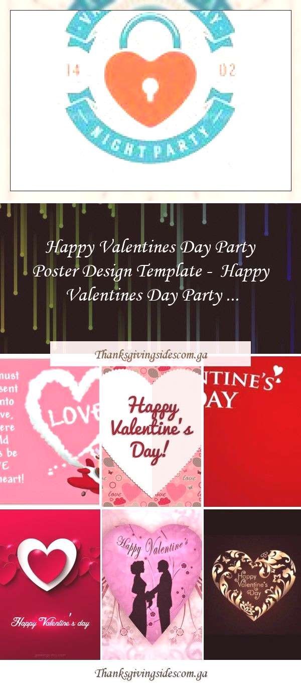 Happy Valentines Day Party Poster Design Template - Happy Valentines Day Party ... Happy Valentine