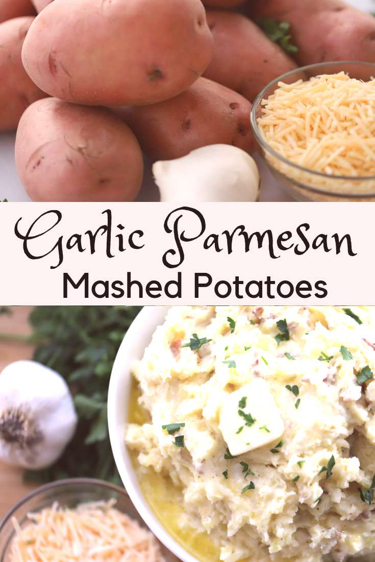 These are the best mashed potatoes! These rustic and homemade mashed potatoes are made with red pot