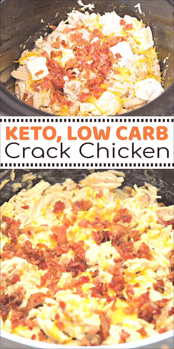 This Crack Chicken in the Crock Pot is keto friendly and low carb. This Crack Chicken in the Crock