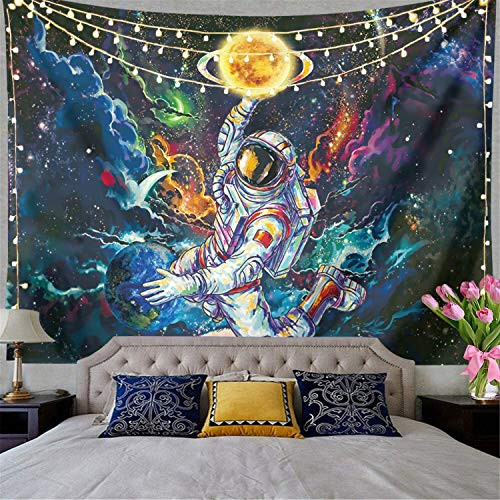 Trippy Astronaut Tapestry Galaxy Space Tapestry Poster