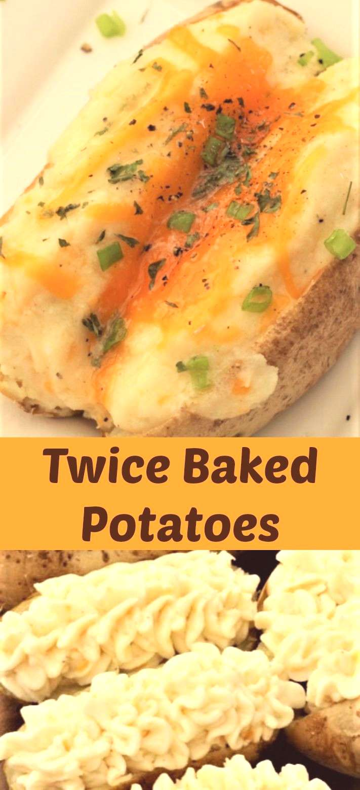 Twice Baked Potatoes Twice baked potatoes are creamy and loaded with cheese! A perfect side dish fo